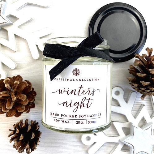 Winters Night Candle