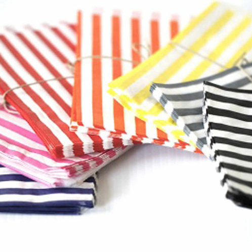 Striped Candy Bags Pack of 25