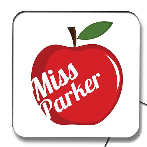 Red Apple Teacher Coaster Gift