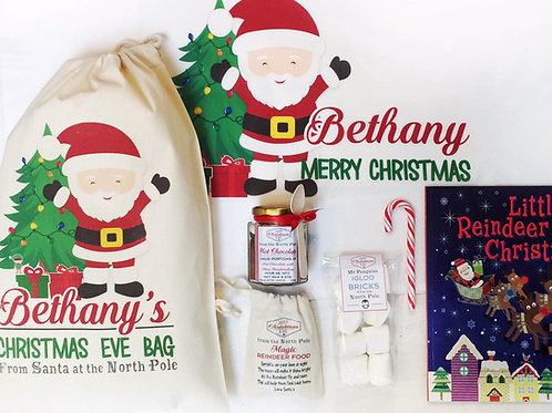 Santa pre filled Christmas eve bag