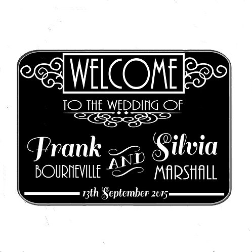 Art Deco Welcome to the wedding sign