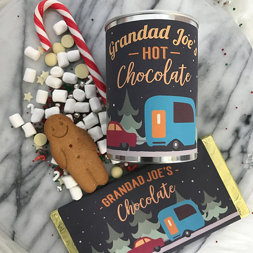 Personalised Hot Chocolate and Choc Bar caravan