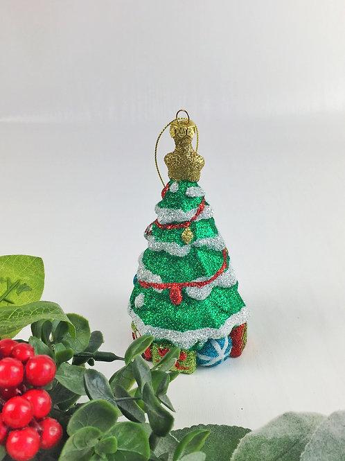 Glittery tradition Christmas tree decoration