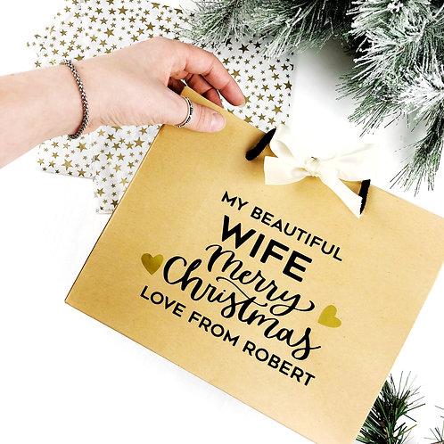 Luxury Christmas gift bag for Wife, Fiance, Partner or Girlfriend.