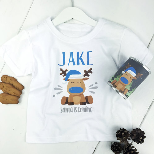 Christmas Eve T-shirt in tin in blue