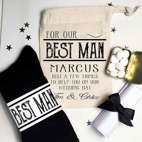 Personalised Best Man / Usher pre filled gift set