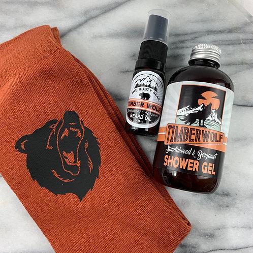Timberwolf 3pc Set, Socks, Beard Oil and Shower Gel