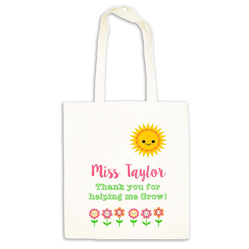 Happy Sunshine Teacher Tote Bag