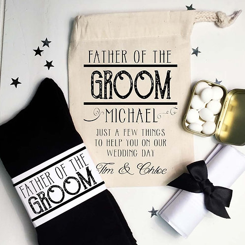 Father of the Groom pre filled gift set