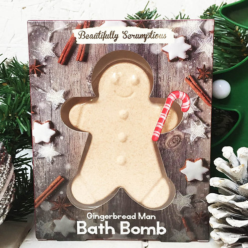 Gingerbread Bath Bomb Christmas stocking filler