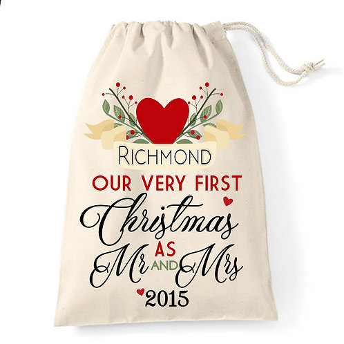 Gift Bag for New Mr & Mrs First Christmas.