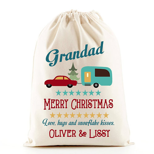 Grandad caravan gift bag for Christmas.