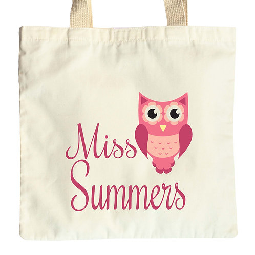 Cute Owl Teacher Tote Bag