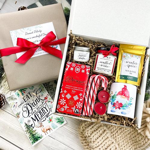 Staying home for Christmas gift box