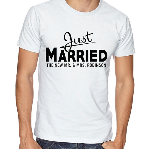 Personalised Husband T Shirt Just Married