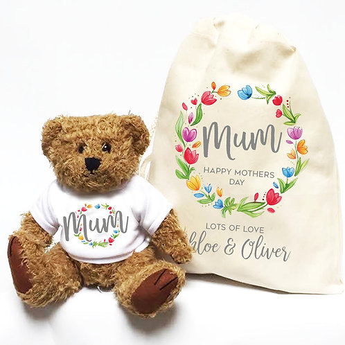 Personalised Mothers Day Bear Flower Ring
