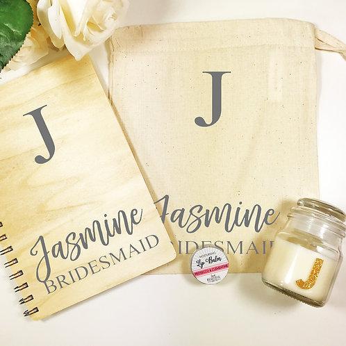 Personalised  Bridesmaid Notebook Gift Set
