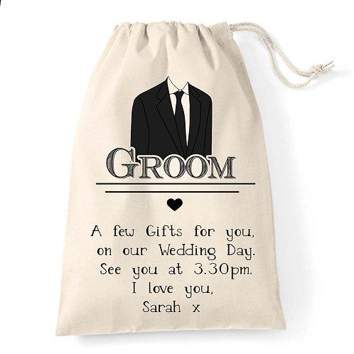Smart suit Groom wedding gift bag