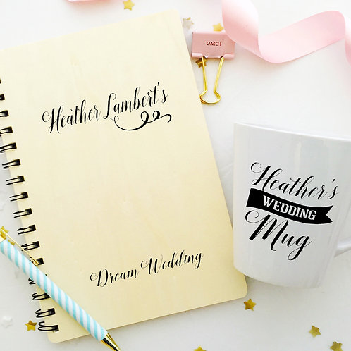 Dream Wedding Planner Notebook & Mug
