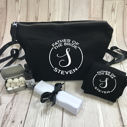 Father of the Bride Monogram Grooming Kit Gift Set