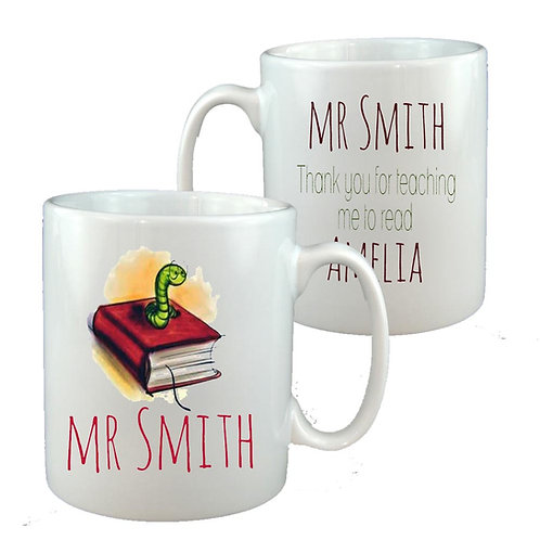 Bookworm Teacher Mug