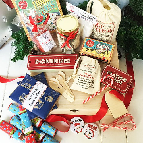 Large personalised Family night before Christmas Eve Pre filled gift box