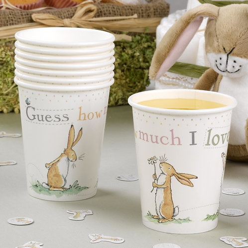 Paper Cups for a Baby Shower- Cute Bunny