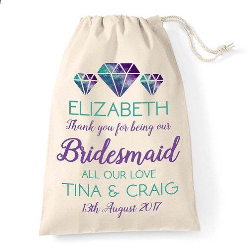 Gift bag for Bridesmaid Galaxy Diamond