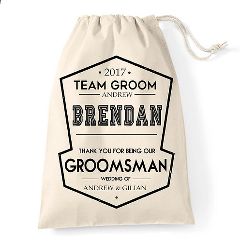 Groomsman | Usher wedding favour gift bag.