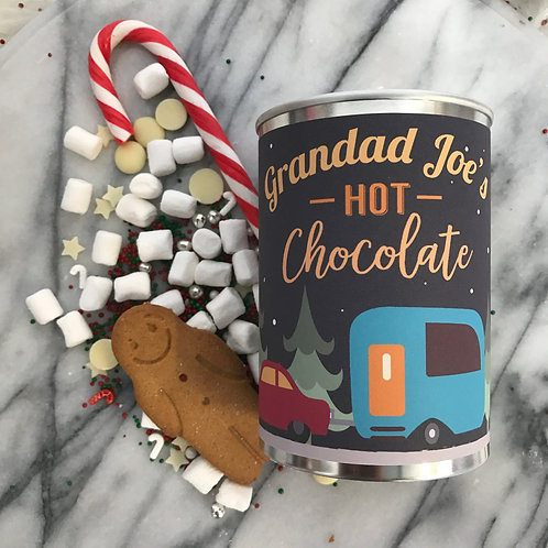 Personalised Hot Chocolate in a tin Grandad Gift