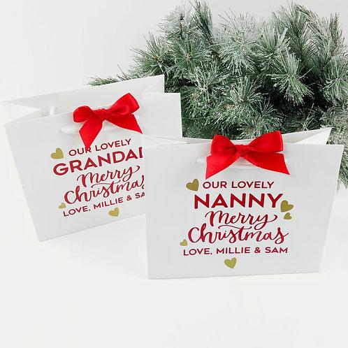 Luxury Christmas gift bag for Nanny or Grandad