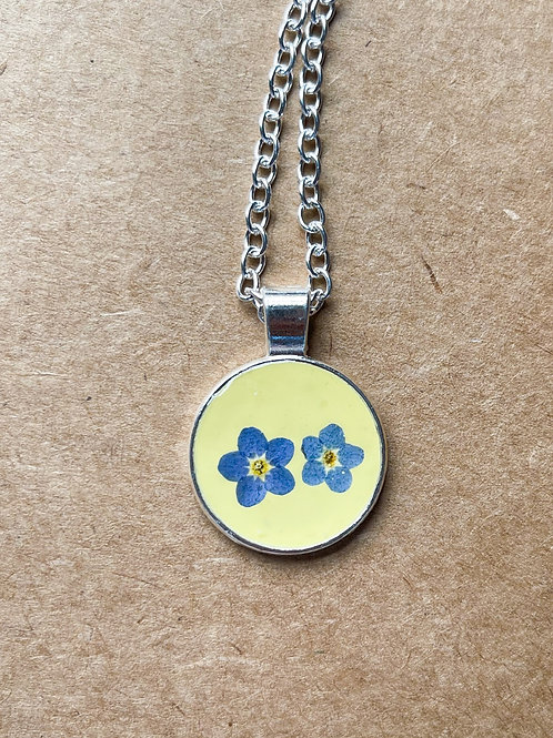 Pastel Forget Me Not Pendant