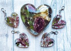 15cm heart £75 with keyrings £20 each