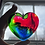 Thumbnail: Charity Rainbow Heart Light Catcher