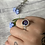 Thumbnail: Adjustable Silver Rose Petal and Forget-Me-Not Ring