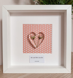 Framed Heart in Wedding Colours