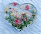 XL heart wedding flower preservation