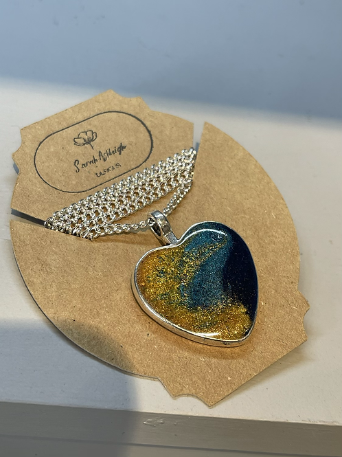 Little ocean heart necklace