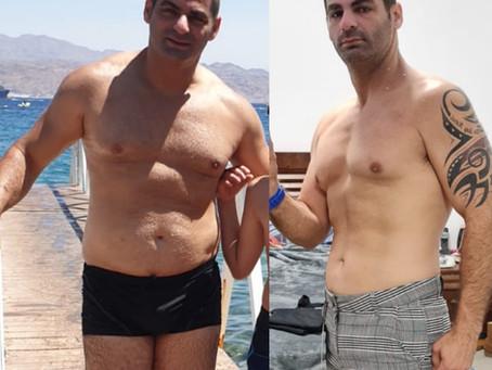 סיפור הצלחה: האימונים בלבד לא מספיקים, להרגיש אחרת עם הגוף באחוז שומן נמוך