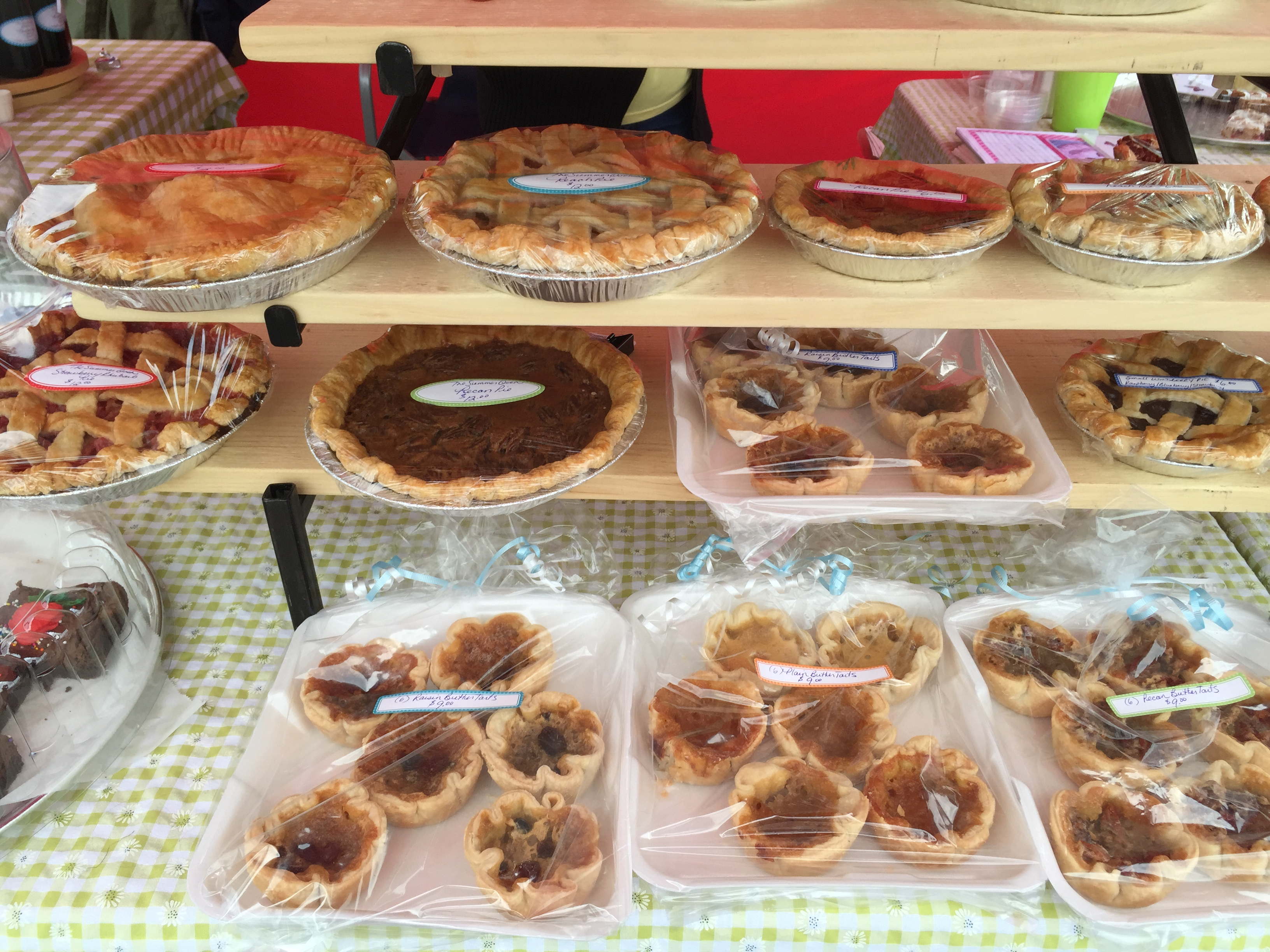 butter tarts pies and brownies