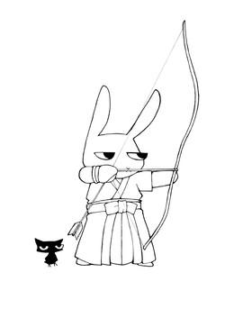 ウサギの弓道