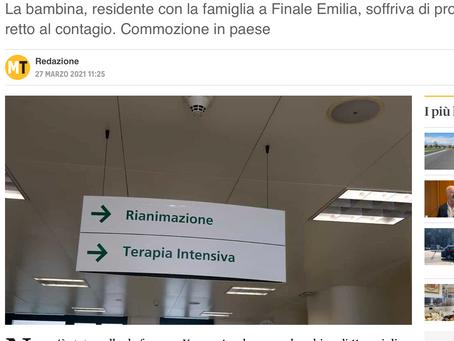 BAMBINA Muore a Modena