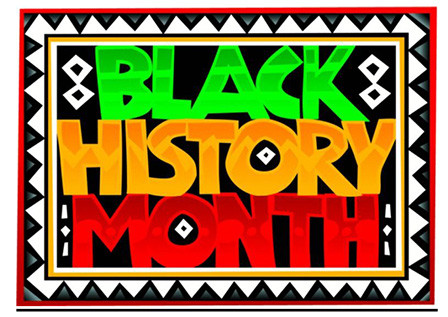 colorful illustration of words Black History Month