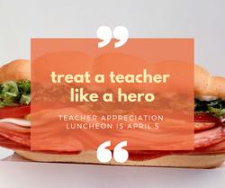 treat a teacher to lunch