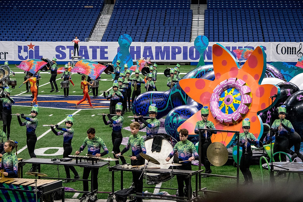James Bowie High School Outdoor Performing Ensemble Floridly Primordial 2018