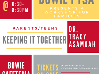 Bowie PTSA presents a one-night workshop for families on Jan. 9