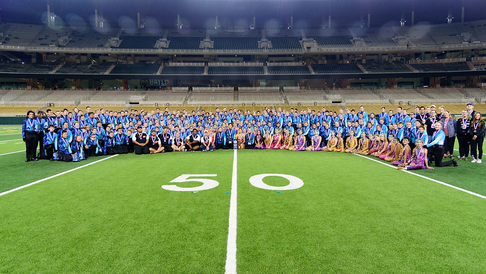 James Bowie High School Marching Band at McLane Stadium, Bands of America Waco Regional Champions