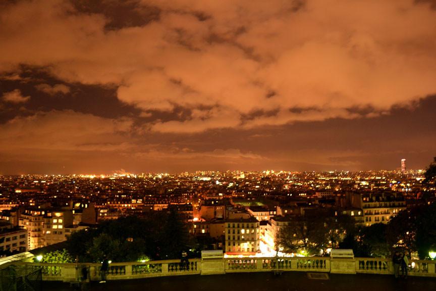 Vista de Paris da igreja Sacre Coeur