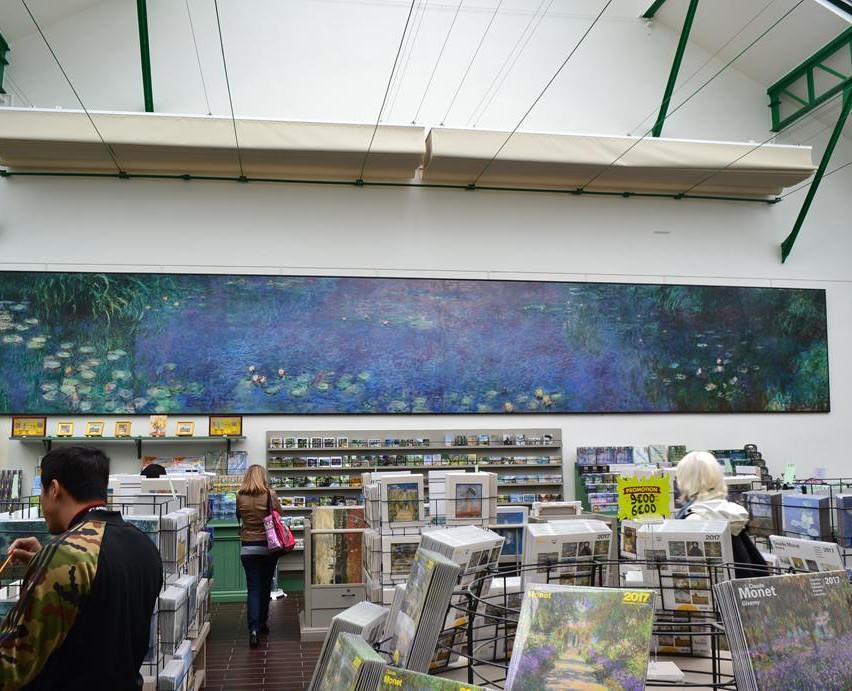 Este local era o ateliê onde Monet pintava suas telas