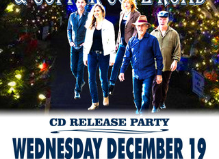 JUST ANNOUNCED:  CD RELEASE PARTY AND CONCERT WED DEC 19 @ 6:30PM